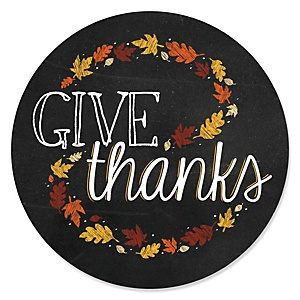 Give Thanks - Thanksgiving Party Sticker Labels - 24 ct