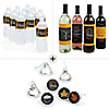 Give Thanks - Thanksgiving Decorations & Favors Kit - Wine, Water and Candy Labels Trio Sticker Set