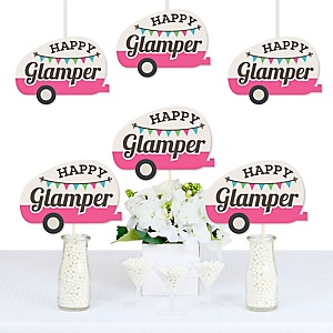 Let's Go Glamping - Let's Go Glamping Decorations DIY Camp Glamp Party or Birthday Party Essentials - Set of 20