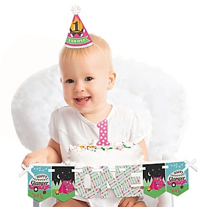 Let's Go Glamping 1st Birthday - First Birthday Boy Smash Cake Decorating Kit - High Chair Decorations