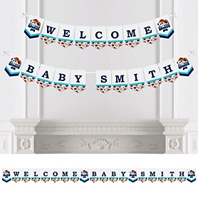 Go, Fight, Win - Sports - Personalized Baby Shower or Birthday Party Bunting Banner & Decorations