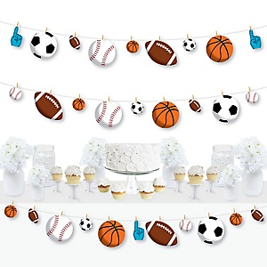 Go, Fight, Win - Sports - Baby Shower or Birthday Party DIY Decorations - Clothespin Garland Banner - 44 Pieces