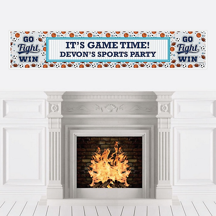 Go, Fight, Win - Sports - Personalized Baby Shower or Birthday Party Banner