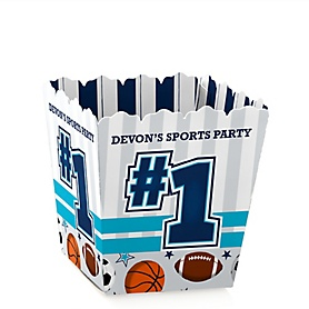 Go, Fight, Win - Sports - Party Mini Favor Boxes - Personalized Baby Shower or Birthday Party Treat Candy Boxes - Set of 12