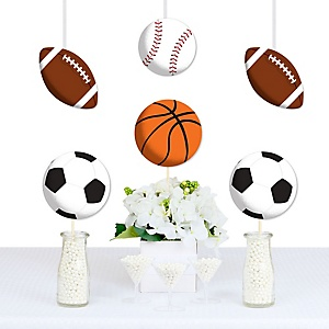 Go, Fight, Win - Sports - Decorations DIY Baby Shower or Birthday Party Essentials - Set of 20