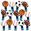 Go, Fight, Win - Sports - Baby Shower or Birthday Party Paddle Photo Booth Props - Selfie Photo Booth Props - Set of 14