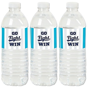 Go, Fight, Win - Sports - Baby Shower or Birthday Party Water Bottle Sticker Labels - Set of 20