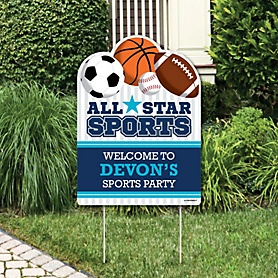 Go, Fight, Win - Sports - Party Decorations - Baby Shower or Birthday Party Personalized Welcome Yard Sign