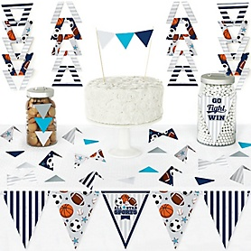 Go, Fight, Win - Sports - DIY Pennant Banner Decorations - Baby Shower or Birthday Party Triangle Kit - 99 Pieces
