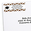 Tassel Worth The Hassle - Gold - Personalized Graduation Return Address Labels - 30 ct