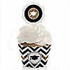 Tassel Worth The Hassle - Gold - Graduation - Cupcake Wrapper & Pick Party Kit - Set of 24