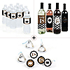 Tassel Worth The Hassel - Gold 2018 Graduation Party Decorations & Favors Kit - Wine, Water and Candy Labels Trio Sticker Set