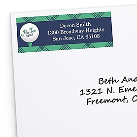 Par-Tee Time - Golf - Personalized Birthday or Retirement Party Return Address Labels  - 30 ct