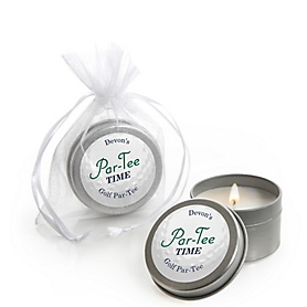 Par-Tee Time - Golf - Personalized Birthday or Retirement Party Candle Tin Favors - Set of 12