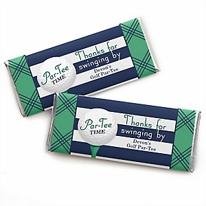 Par-Tee Time - Golf - Personalized Baby Shower Candy Bar Wrapper