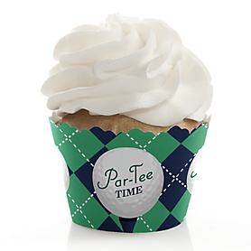 Par-Tee Time - Golf - Birthday or Retirement Party Decorations - Party Cupcake Wrappers - Set of 12