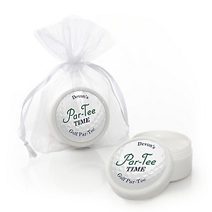 Par-Tee Time - Golf - Lip Balm Personalized Birthday or Retirement Party Favors