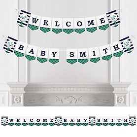 Par-Tee Time - Golf - Personalized Baby Shower Bunting Banner & Decorations