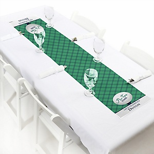 """Par-Tee Time - Golf - 12"""" x 60"""" Personalized Petite Birthday or Retirement Party Table Runner"""