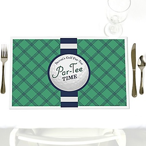 Par-Tee Time - Golf - Personalized Birthday or Retirement Party Placemats