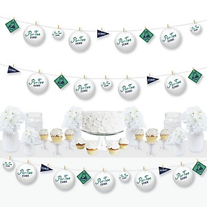 Par-Tee Time - Golf - Birthday or Retirement Party DIY Decorations - Clothespin Garland Banner - 44 Pieces