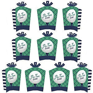 Par-Tee Time - Golf - Table Decorations - Birthday or Retirement Party Fold and Flare Centerpieces - 10 Count