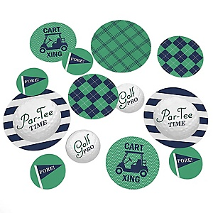 Par-Tee Time - Golf - Personalized Birthday or Retirement Party Table Confetti - 27 Piece