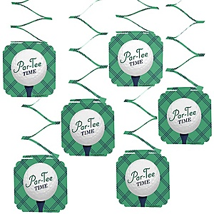 Par-Tee Time - Golf - Birthday or Retirement Party Hanging Decorations - 6 ct