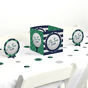 Par-Tee Time - Golf - Birthday or Retirement Party Centerpiece and Table Decoration Kit