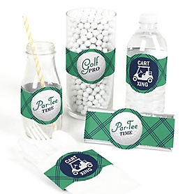 Par-Tee Time - Golf - 15 DIY Birthday or Retirement Party Wrappers - 15 ct