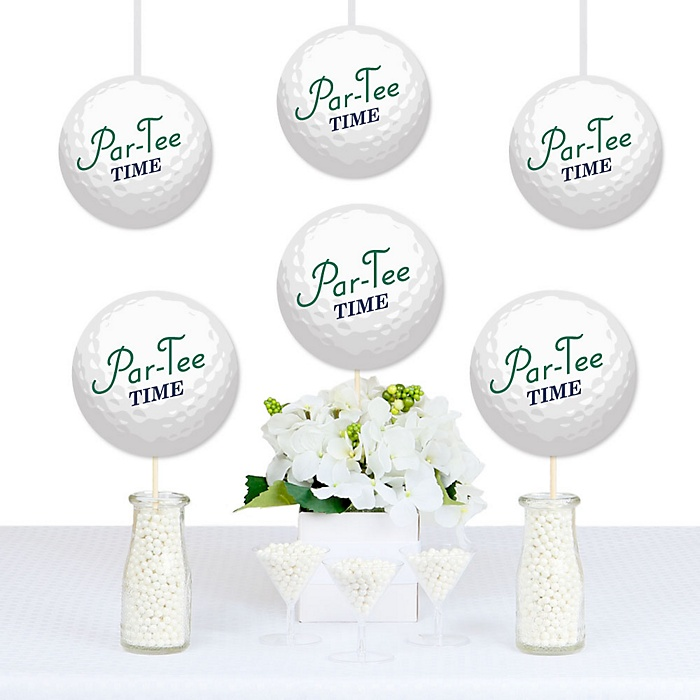 Par-Tee Time - Golf Ball Decorations DIY Birthday or Retirement Party Essentials - Set of 20