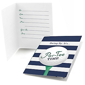 Par-Tee Time - Golf - Fill In Birthday or Retirement Party Invitations - 8 ct