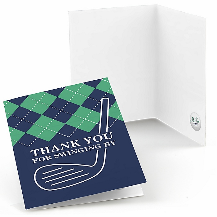 Par-Tee Time - Golf - Birthday or Retirement Party Thank You Cards - 8 ct