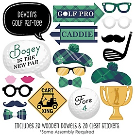 Par-Tee Time - Golf - 20 Piece Photo Booth Props Kit