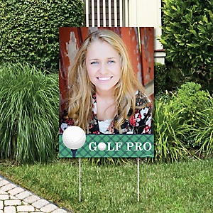 Par-Tee Time - Golf - Photo Yard Sign - Birthday or Retirement Party Decorations