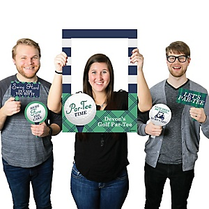 Par-Tee Time - Golf - Personalized Birthday Party or Baby Shower Photo Booth Picture Frame & Props - Printed on Sturdy Material