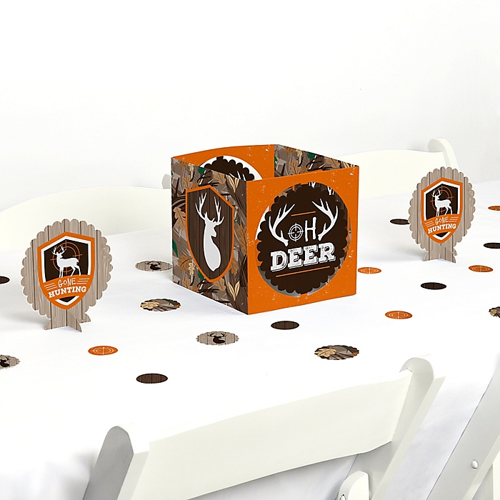 Gone Hunting - Deer Hunting Camo Party Centerpiece & Table Decoration Kit