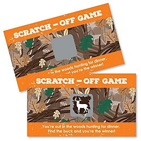 Gone Hunting - Deer Hunting Camo Party Game Scratch Off Cards - 22 ct