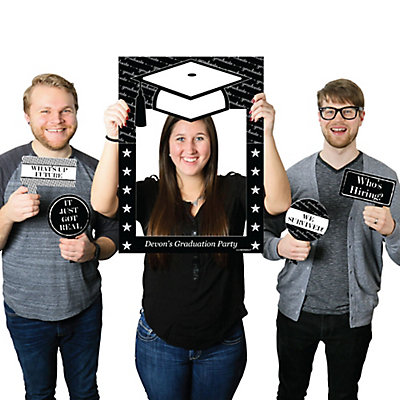 Graduation Cheers Personalized Graduation Party Selfie Photo Booth