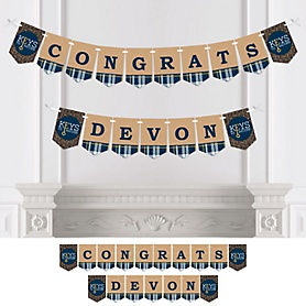 Grad Keys to Success - Personalized Graduation Party Bunting Banner & Decorations