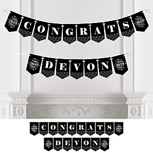 Graduation Cheers - Personalized 2019 Graduation Party Bunting Banner & Decorations