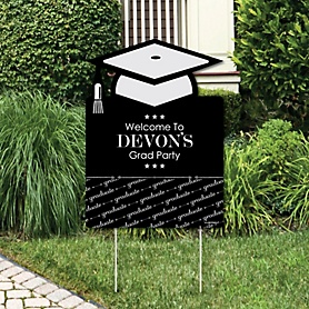 Graduation Cheers - Graduation Decorations - Graduation Party Personalized Welcome Yard Sign