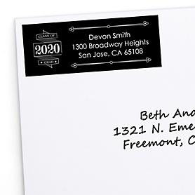 Graduation Cheers - Personalized 2020 Graduation Return Address Labels - 30 ct