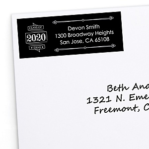 Graduation Cheers - Personalized 2020 Graduation Return Address Labels - 30 ct