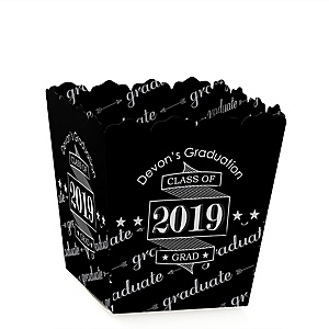 Graduation Cheers - Party Mini Favor Boxes - Personalized 2019 Graduation Treat Candy Boxes - Set of 12
