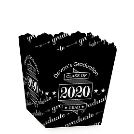 Graduation Cheers - Party Mini Favor Boxes - Personalized 2020 Graduation Treat Candy Boxes - Set of 12
