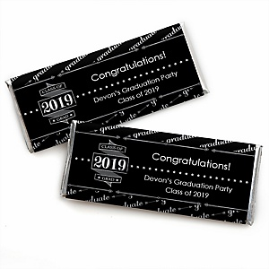 Graduation Cheers - Personalized Candy Bar Wrappers 2019 Graduation Party Favors - Set of 24