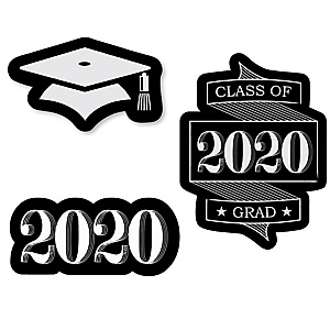 Graduation Cheers - DIY Shaped 2020 Graduation Party Paper Cut-Outs - 24 ct