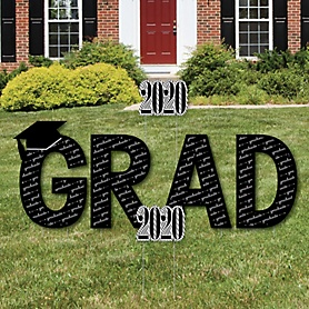 GRAD - Graduation Cheers - Yard Sign Outdoor Lawn Decorations - 2020 Graduation Party Yard Signs