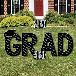 GRAD - Graduation Cheers - Yard Sign Outdoor Lawn Decorations - 2020 Graduation Party Yard Signs